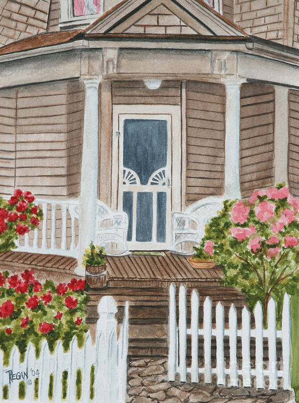 Architecture Art Print featuring the painting Welcome by Regan J Smith