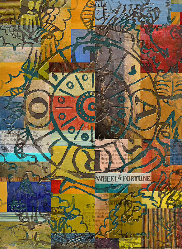 Tarot Art Print featuring the painting Wheel Of Fortune by Corporate Art Task Force