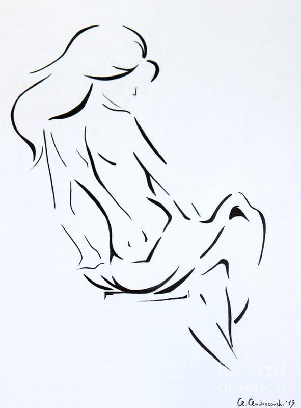 Drawing Art Print featuring the painting Wind by Anna Androsovski