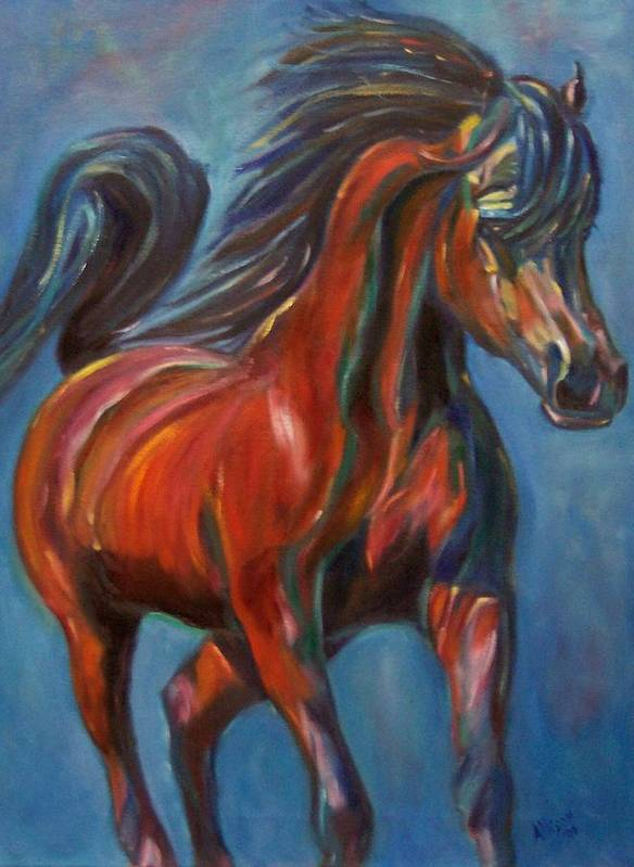Horse Art Print featuring the painting Windstalker by Stephanie Allison