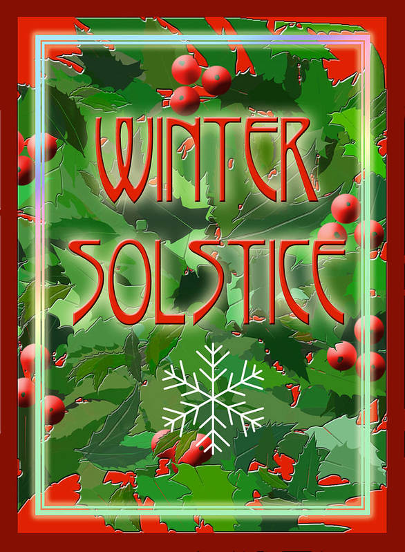 Yule Art Print featuring the digital art Winter Solstice by Melissa A Benson