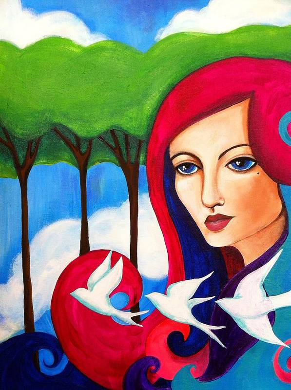 Woman Art Print featuring the painting Wonderland by Jaymee Laws