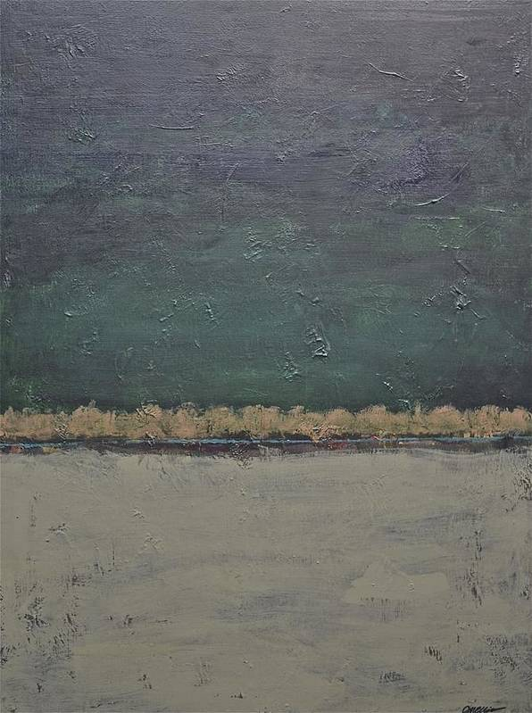 Rectangular Art Print featuring the painting Yonder Creek by Jim Ellis