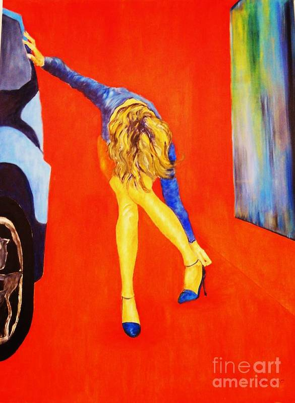 Girlspainting Art Print featuring the painting Zapatos 3 by Dagmar Helbig