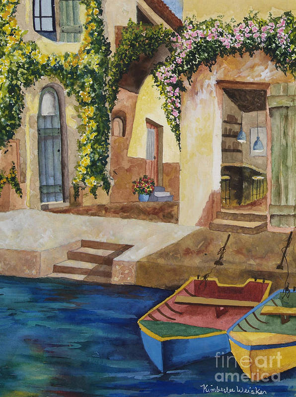 Authentic Inspiration Art Print featuring the painting Afternoon At The Piazzo by Kimberlee Weisker
