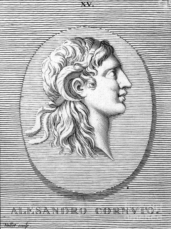 4th Century B.c Print featuring the photograph Alexander The Great (356-323 B.c.) by Granger