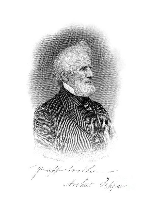 1860s Art Print featuring the photograph Arthur Tappan (1786-1865) by Granger