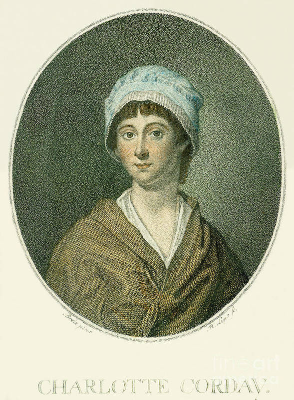 18th Century Art Print featuring the photograph Charlotte Corday by Granger