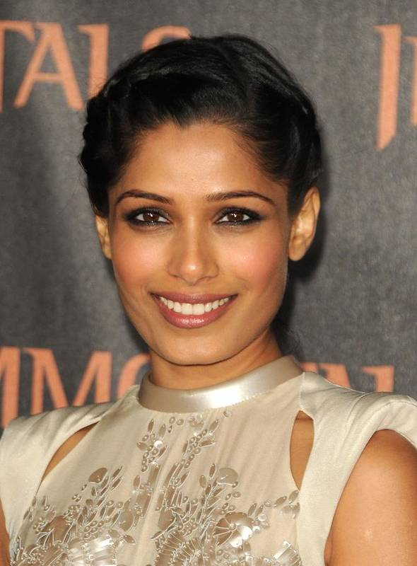 Freida Pinto Art Print featuring the photograph Freida Pinto At Arrivals For Immortals by Everett