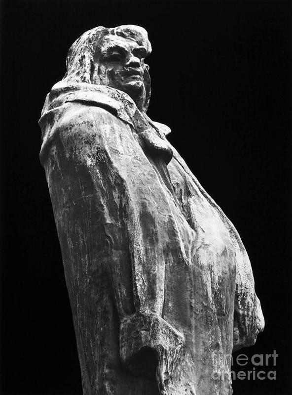 19th Century Art Print featuring the photograph Honore De Balzac (1799-1850) by Granger