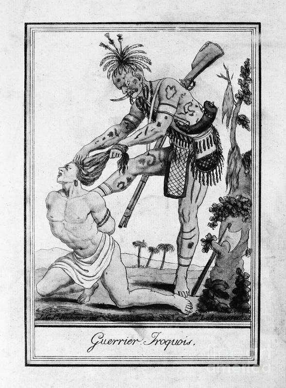1796 Print featuring the photograph Iroquois Warrior by Granger