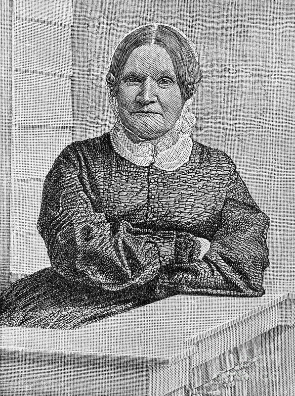 19th Century Print featuring the photograph Lydia Maria Child (1802-1880) by Granger
