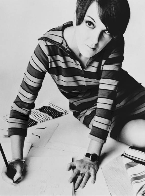 History Art Print featuring the photograph Mary Quant, British Mod Fashion by Everett