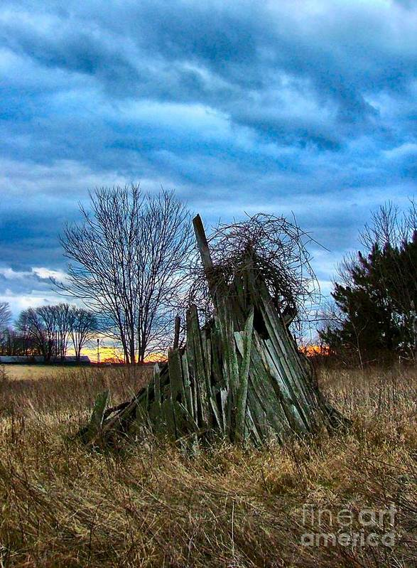 Woodstacks Art Print featuring the photograph The Woodstack by Julie Dant