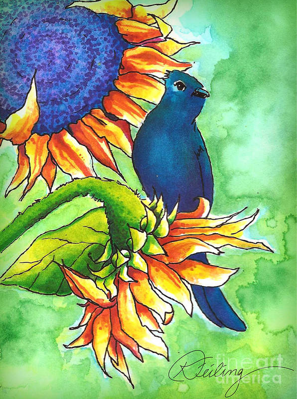 Watercolor Art Print featuring the painting Untitled by Karen Feiling