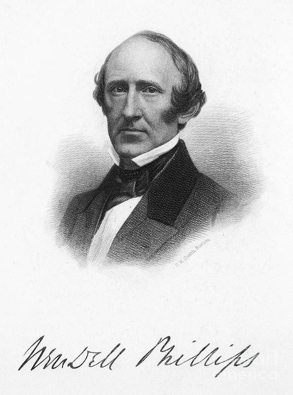 1868 Print featuring the photograph Wendell Phillips (1811-1884) by Granger