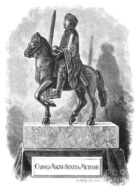 8th Century Art Print featuring the photograph Charlemagne (742-814) by Granger