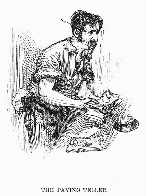 1873 Print featuring the photograph Bank Panic, 1873 by Granger