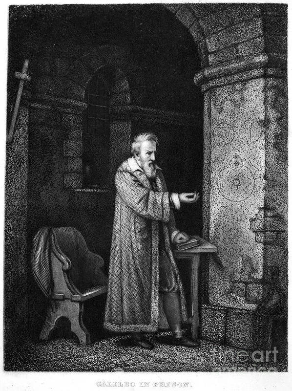 Astronomer Art Print featuring the photograph Galileo Galilei (1564-1642) by Granger