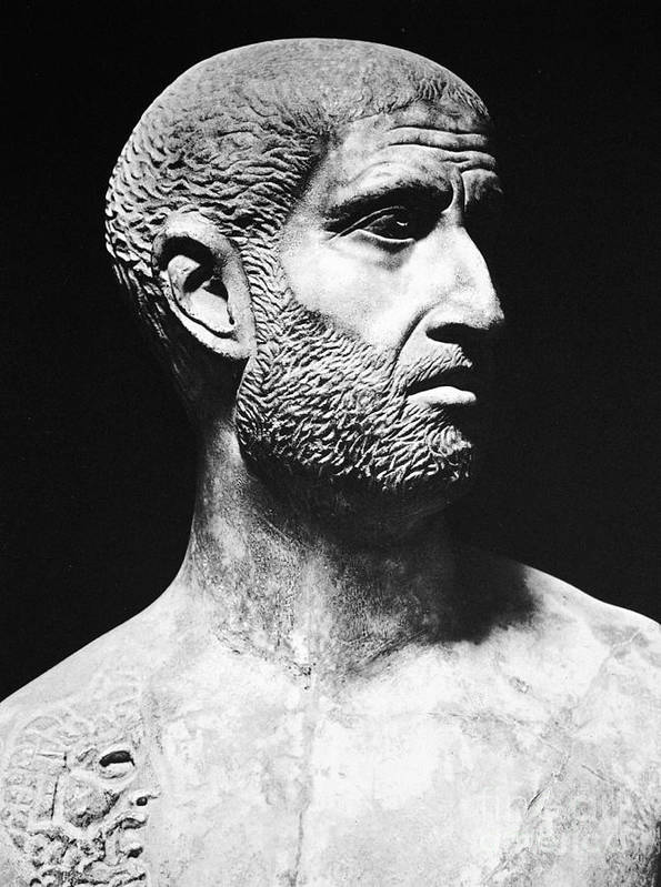 1st Century B.c Art Print featuring the photograph Terence (186?-159 B.c.) by Granger