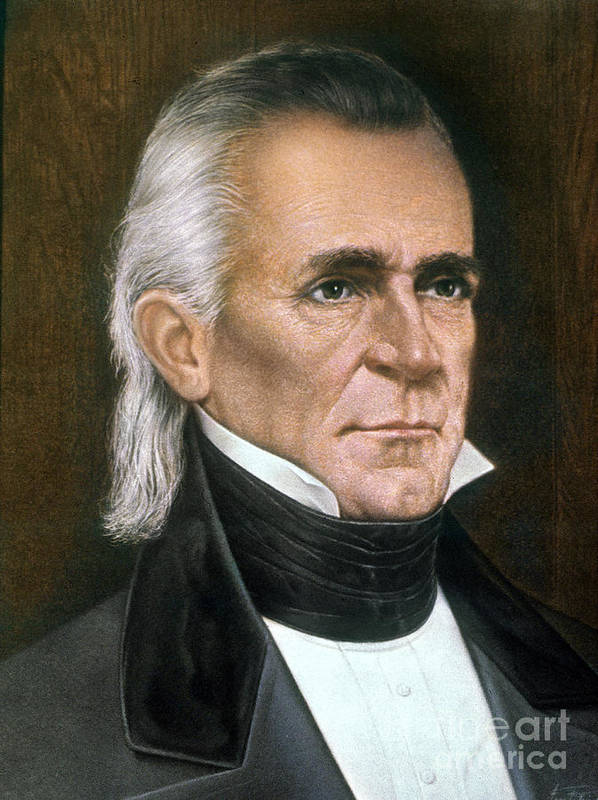 19th Century Art Print featuring the photograph James K. Polk (1795-1849) by Granger