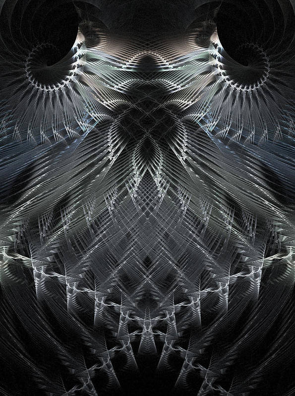 Fractal Art Print featuring the digital art Evolution by Michele Caporaso