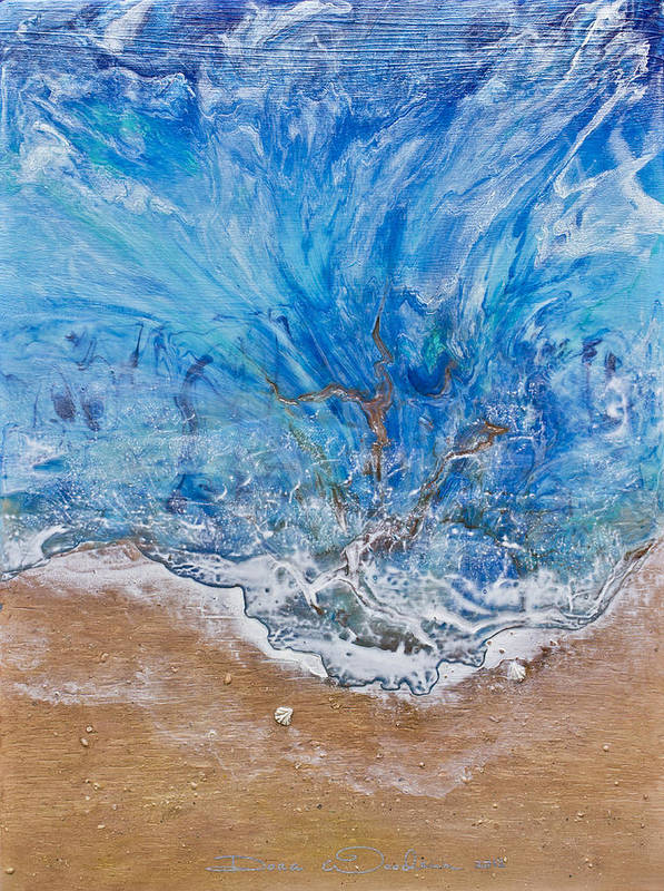 Abstract Paintings Art Print featuring the painting A Beautiful Beach 1 by Dora Woodrum