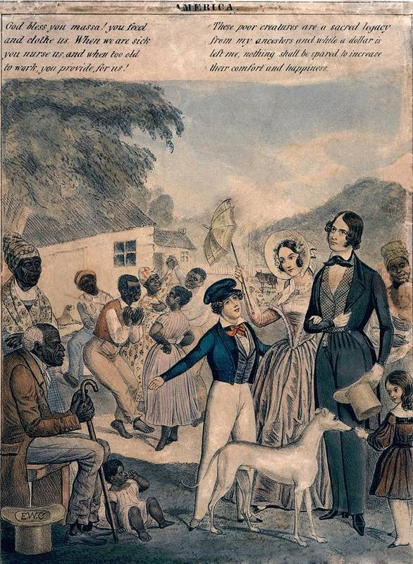 History Art Print featuring the photograph A Pro-slavery Portrayal by Everett