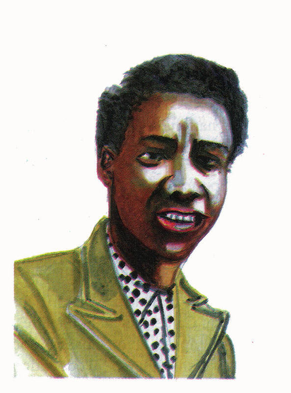Portraits Art Print featuring the painting Althea Gibson by Emmanuel Baliyanga