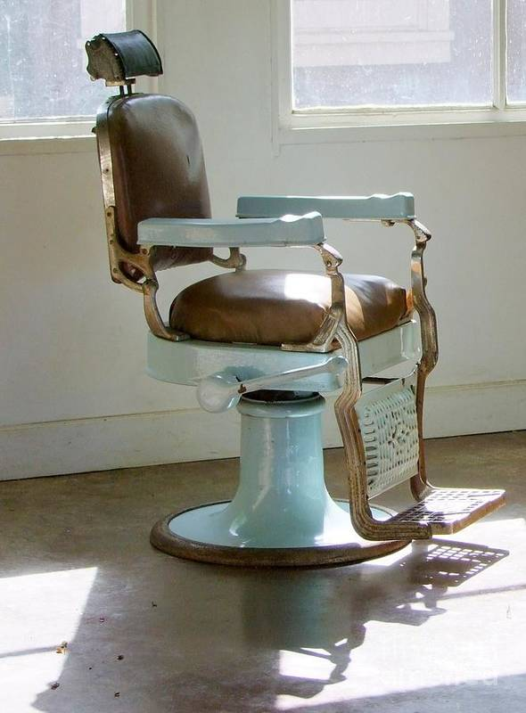 Barber Chair Art Print featuring the photograph Antique Barber Chair by Mary Deal & Antique Barber Chair Art Print by Mary Deal