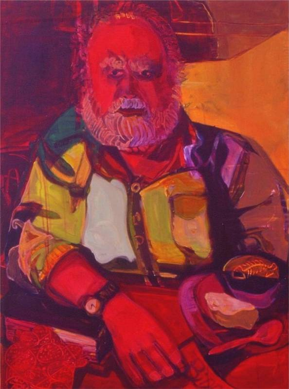 Red Art Print featuring the painting Bill No.1 - Big Red Bill by Erika Richert