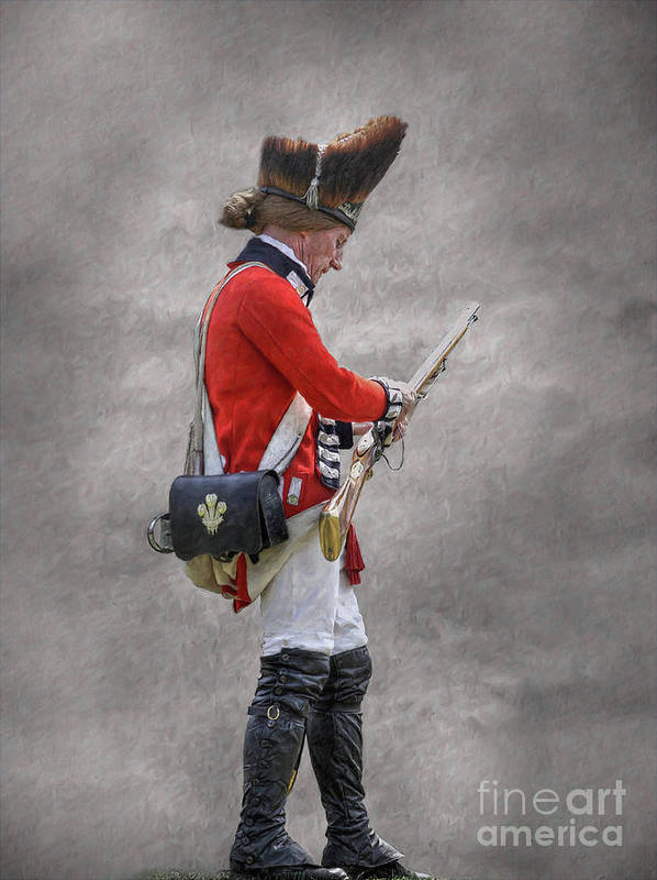 British Soldier With Rifle American Revolution Art Print
