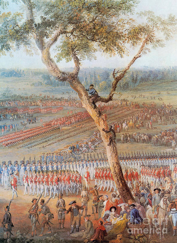 America Art Print featuring the photograph British Troops Surrender At Yorktown by Photo Researchers