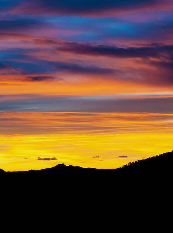 Colorado Art Print featuring the photograph Colorado Sunrise -vertical by Beth Riser