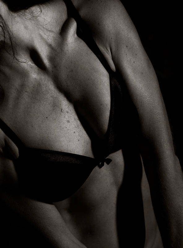 Bra Art Print featuring the photograph Covered Figure by Daniel Love