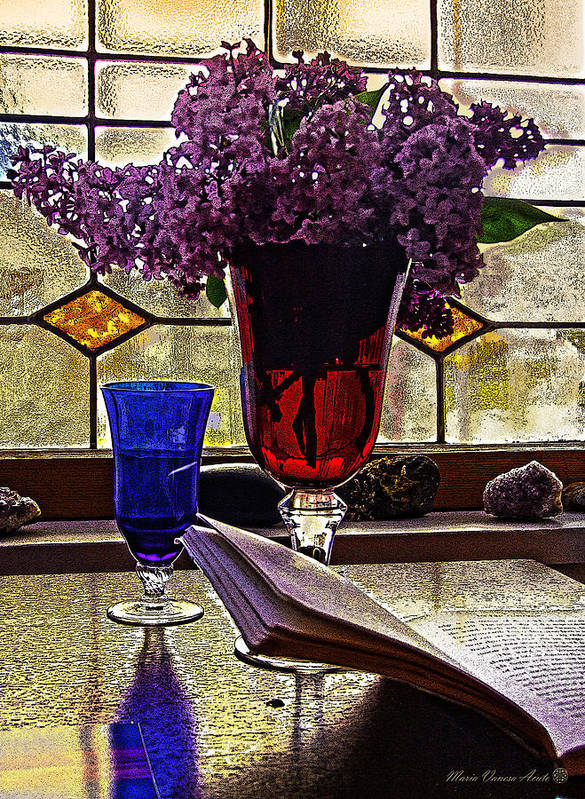 Vitraux Art Print featuring the photograph Cup Of Life by Maria Vanesa Acuto