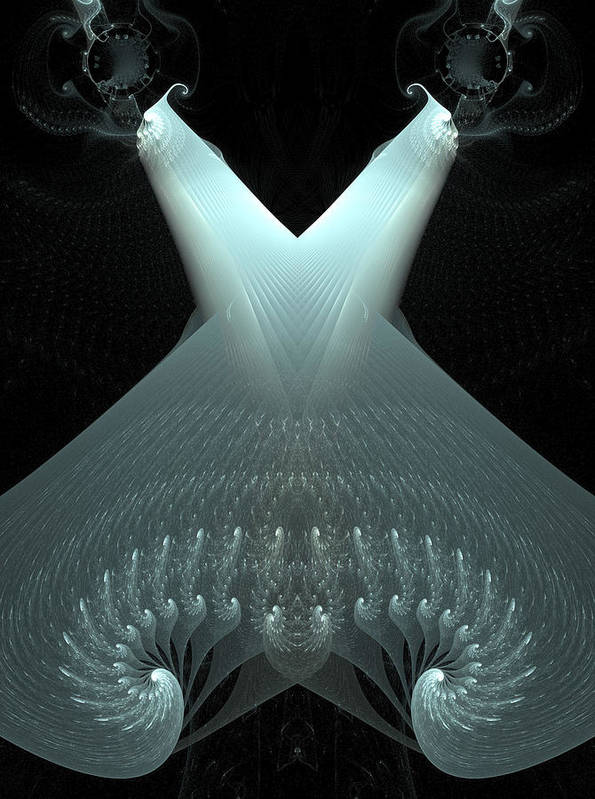 Fractals Art Print featuring the digital art Dubstep 55 by Michele Caporaso