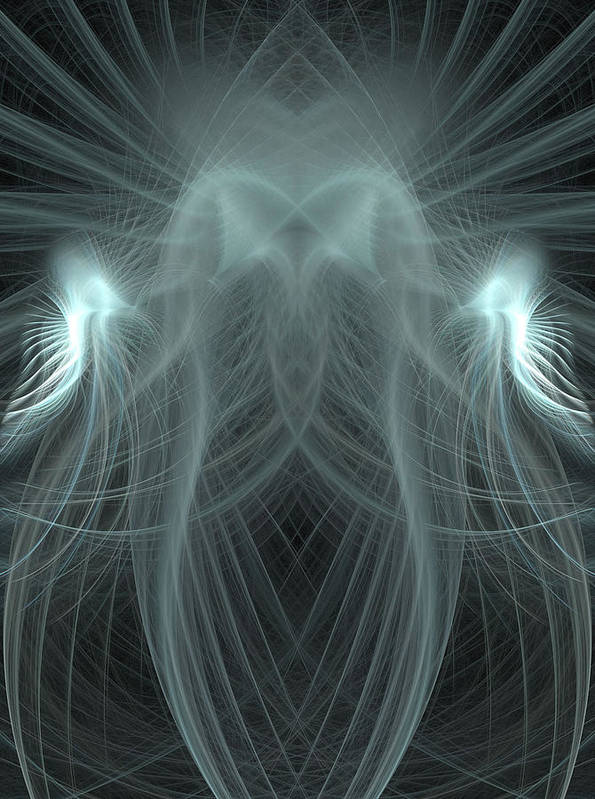 Fractals Art Print featuring the digital art Dubstep 57 by Michele Caporaso