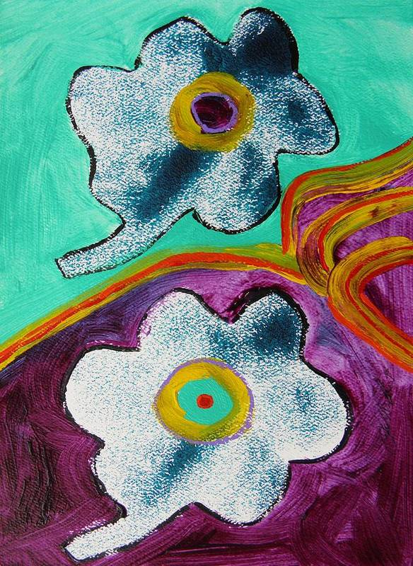Flowers Art Print featuring the painting Duet by John Williams