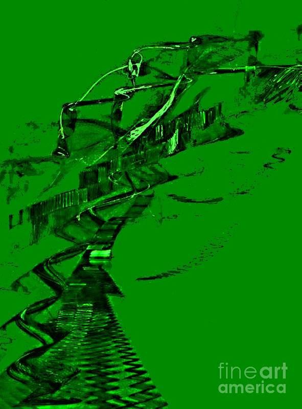 Green Art Print featuring the digital art Emerald2 by Vicki Lynn Sodora
