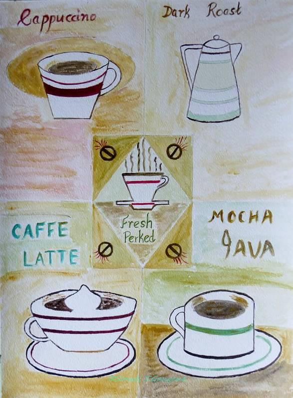 Coffee Art Print featuring the painting Eureka by Sonali Gangane