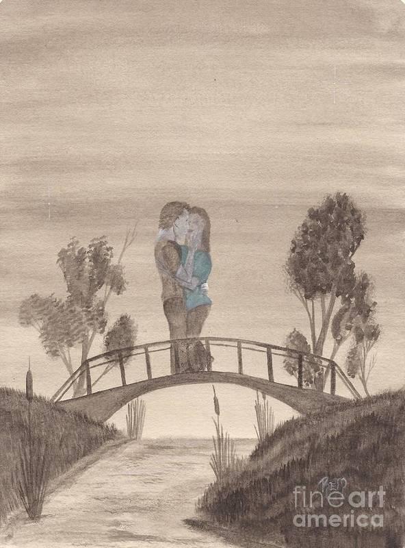 Romance Art Print featuring the painting Falling... by Robert Meszaros