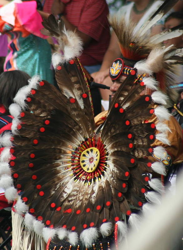 Pow Wow Art Print featuring the photograph Feathers by Laurie Prentice