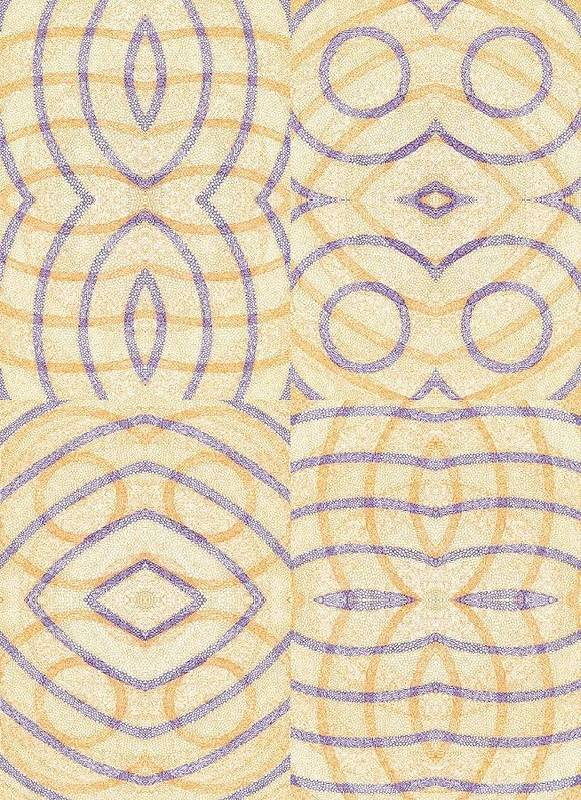 Firmamentals Fundamentals Firmament Fundament Circle Concentric Overlap Rings Shogun Shotgun Art Print featuring the digital art Firmamentals 0-5 by William Burns