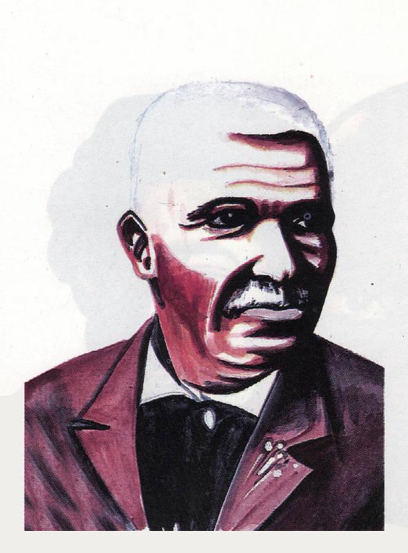 Georges Washington Carver Art Print featuring the painting Georges Washington Carver by Emmanuel Baliyanga