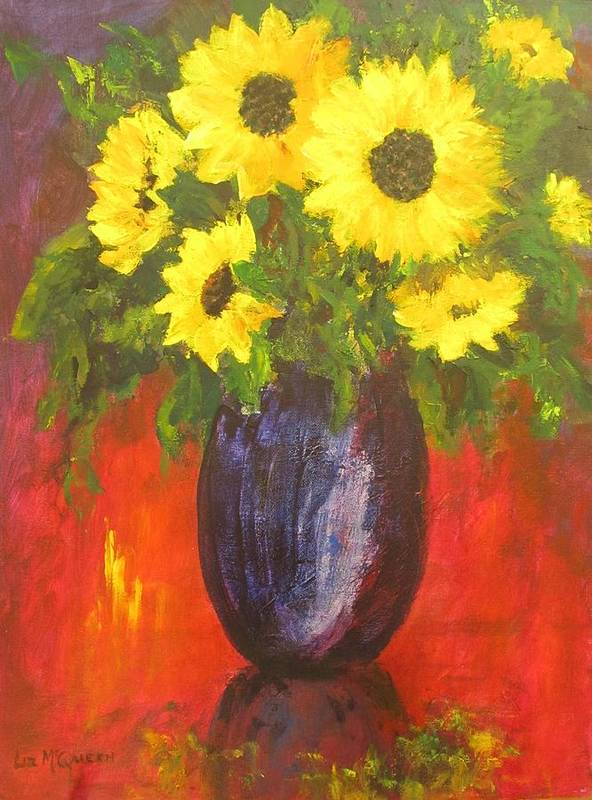 Still Life Art Print featuring the painting Good Morning Sunshine by Liz McQueen