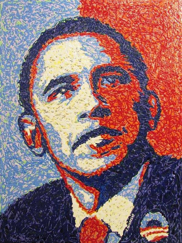 President Barack Obama Art Print featuring the painting Hope Is Still There by Eric McGreevy