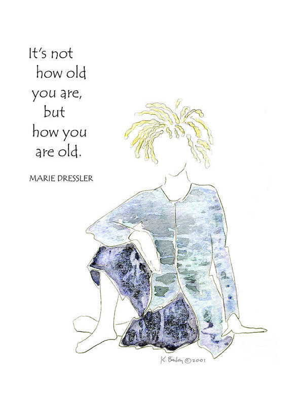 Women's Art Print featuring the painting How You Are Old - Birthday by Karen Bailey
