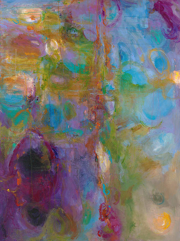 Abstract Expressionistic Print featuring the painting Infinite Tranquility by Johnathan Harris