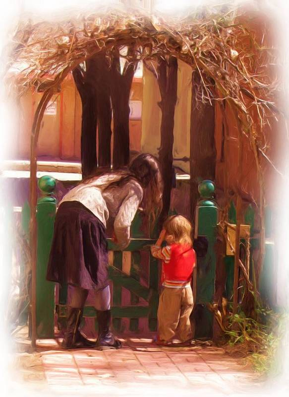 Mother Art Print featuring the photograph It's About The Gate by Feva Fotos